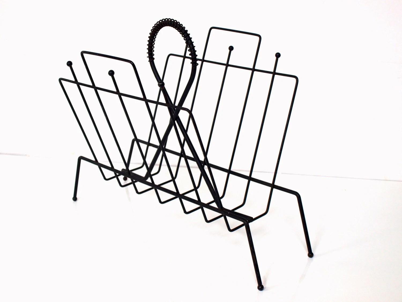 Items similar to Vintage Wire Magazine Rack on Etsy
