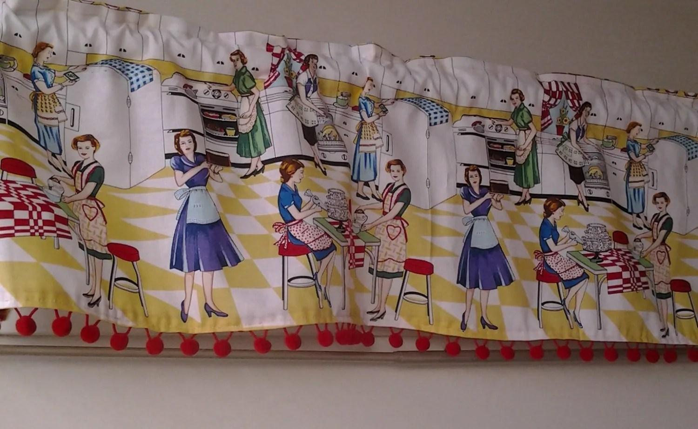 Retro Kitchen Curtains Etsy