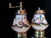 Antique Capodimonte Italian Porcelain Angel
