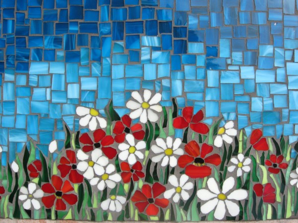 Mosaic Panel Field Of Flowers