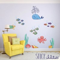 Ocean Stickers Nursery Wall Decals Ocean Theme Nursery Wall