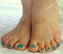 Sterling Silver Barefoot Sandals Chain