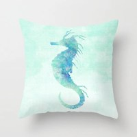 Seahorse Pillow Case Nautical Home Decor Beach by ...
