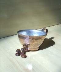 Copper Coffee Cup Handmade Copper Mug Hammered Vintage Mug