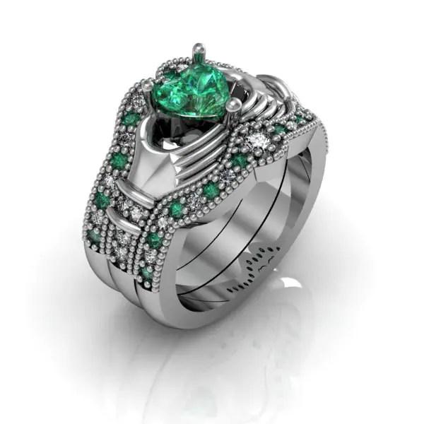Izyaschnye Wedding Rings Claddagh Wedding Rings Sets