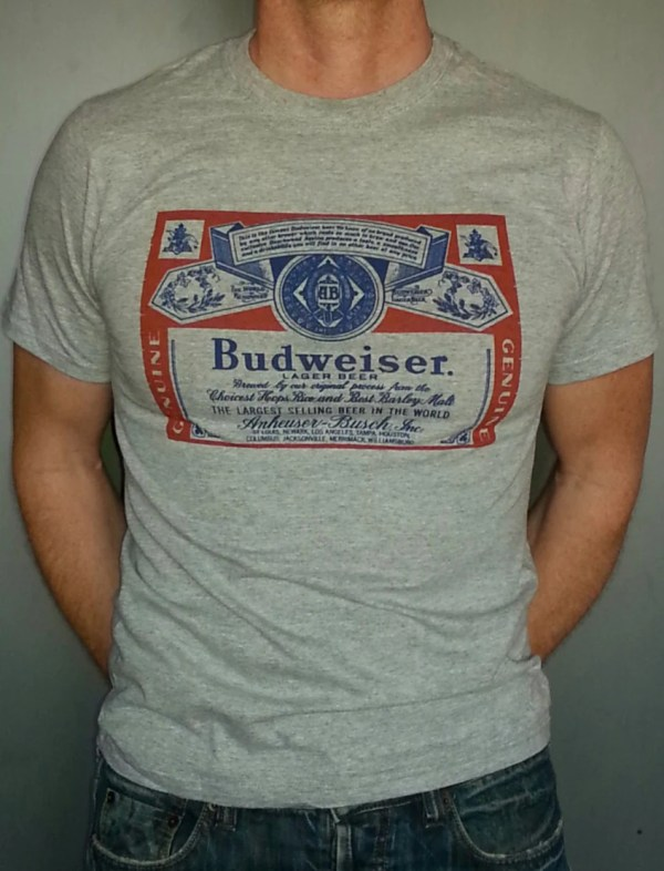 Budweiser Beer T-shirt Vintage Style Bud Light Xs-3xl Mens