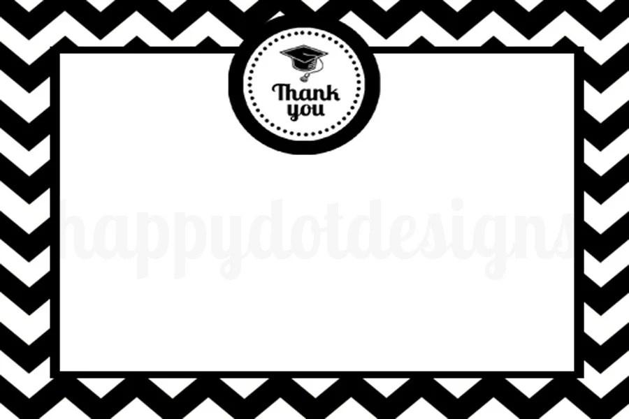 Handmade graduation thank you cards