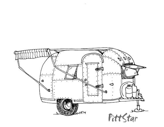 Instant Download Vintage Airstream Travel Trailer by PittStar