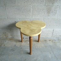 Vintage Mid Century Side Table Glitter and Gold FREE SHIPPING
