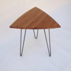 Guitar Shaped Chair Moen Shower Pick Side Table Mid Century Modern Triangle End