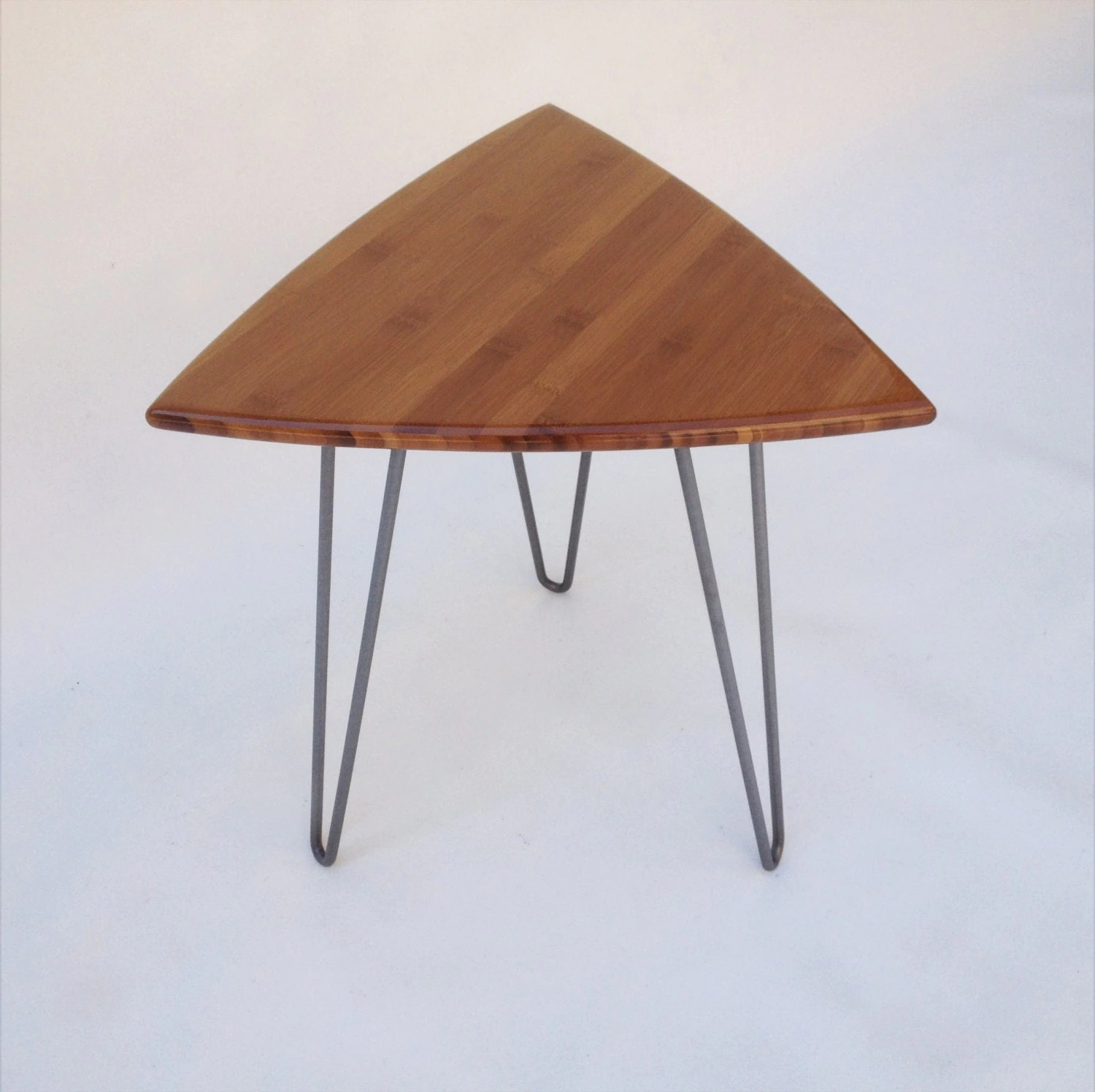 guitar shaped chair pottery barn slipcover reviews pick side table mid century modern triangle end