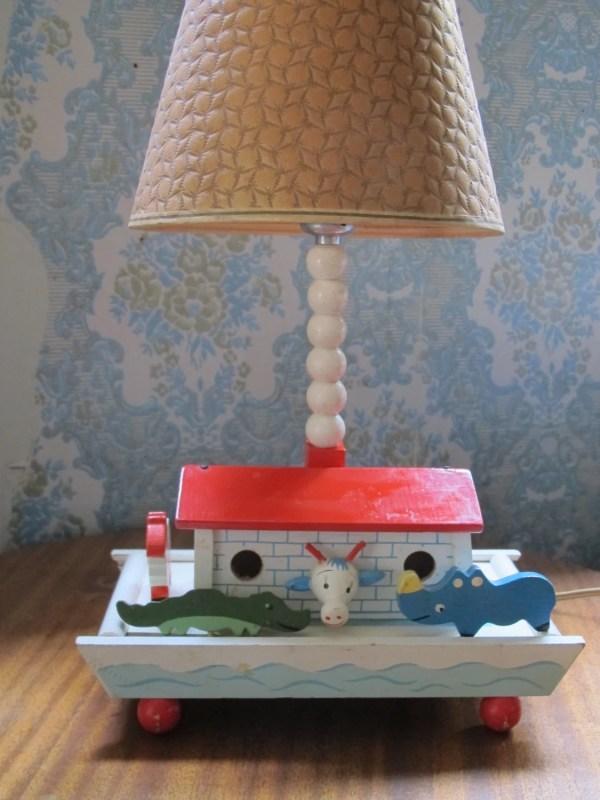 Vintage Irmi Child' Lamp Noah' Ark Baby Nursery