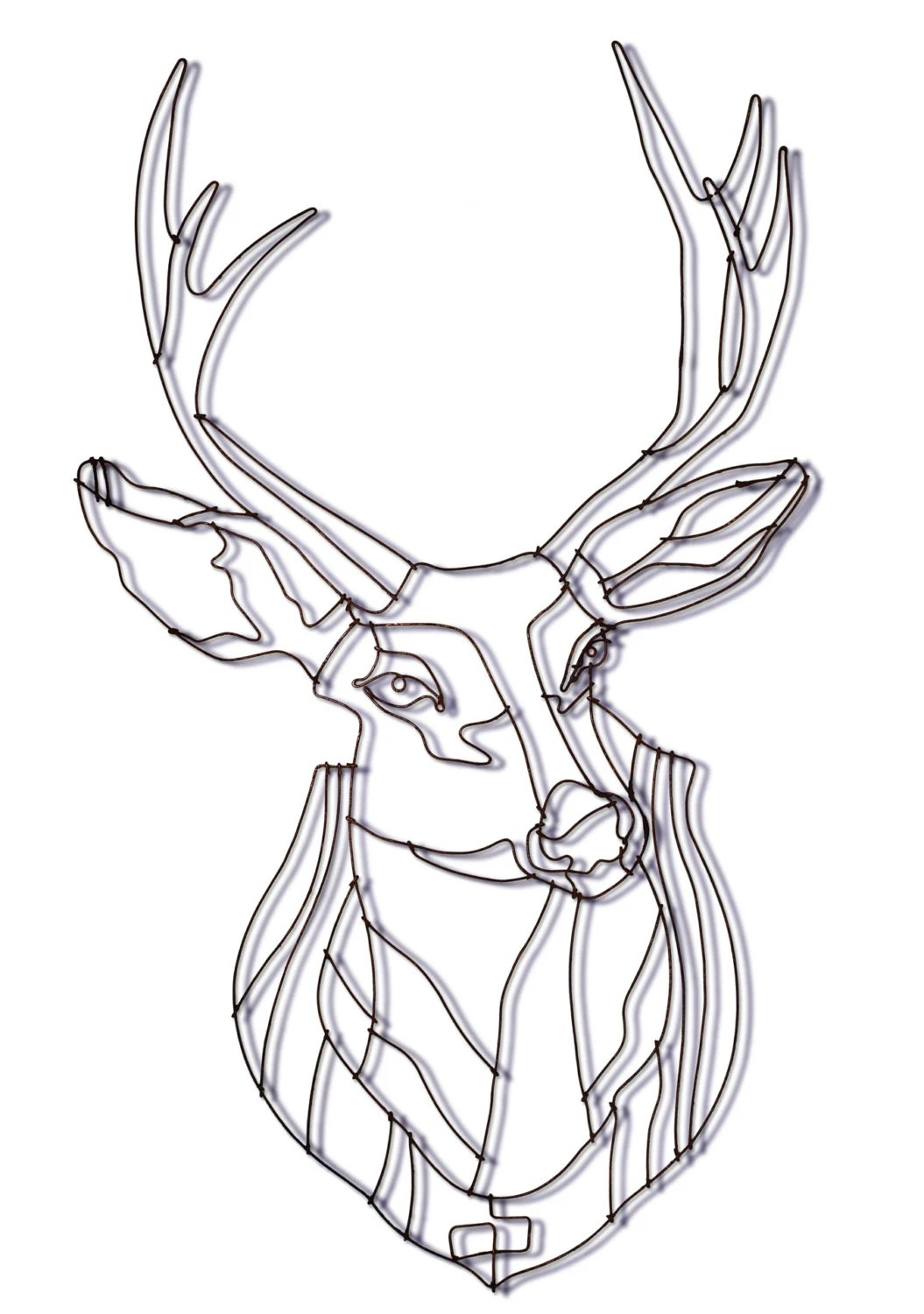 Items similar to deer wall sculpture. wire deer. deer art