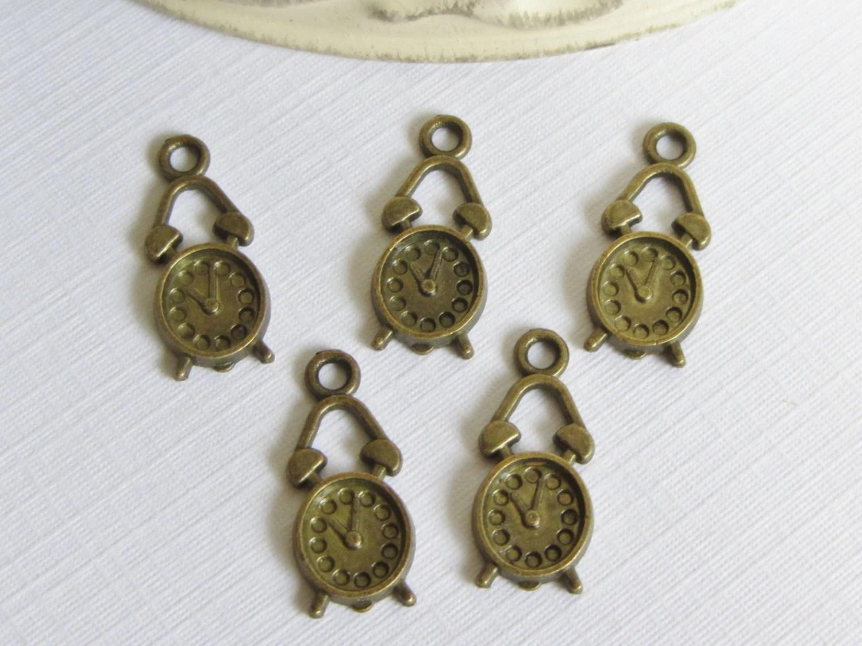 5 Mini Clock Embellishments For Scrapbookingcard Makinghome