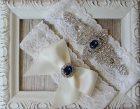 GARTER Wedding Garter Set Vintage Garter Set w/ by ...