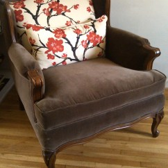 Country Style Wingback Chairs High Chair Attach To Table Vintage French Rustic By