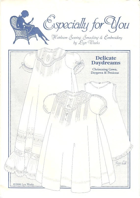 Christening Gown Daygown Petticoat Heirloom Pattern