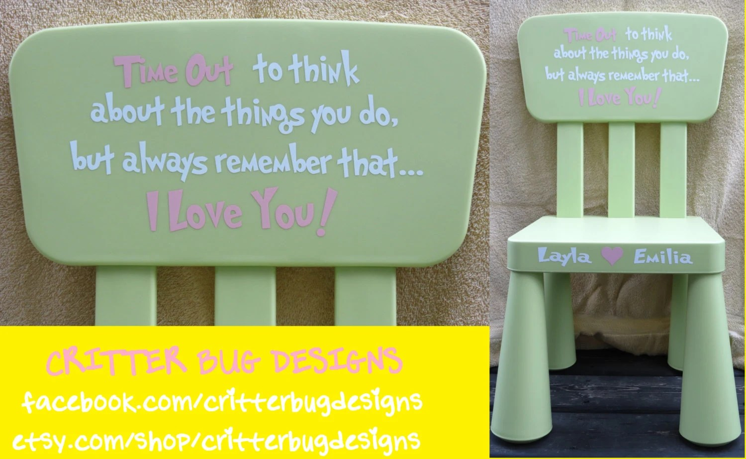 kids time out chair high splat mat australia diy personalized decal for a toddler