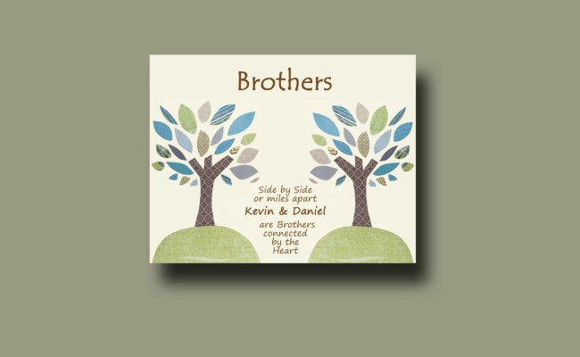 Brother Gift Print Personalized Gift For Brother By