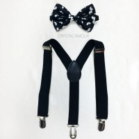 baby mustache bow tie and suspenders toddler bowtie and