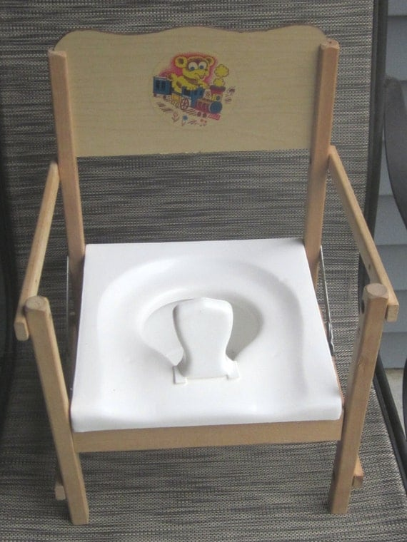Vintage Potty Training Folding Chair by LeftoverStuff on Etsy