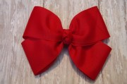 extra large boutique hair bow red