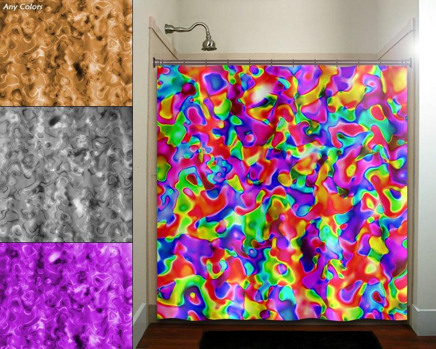 Black Bright Chevron Pattern Shower Curtain By Mightynicestuff