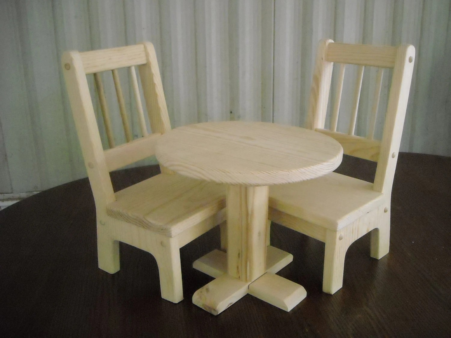 18 doll table and chairs wedding hire sydney handmade 2 for inch