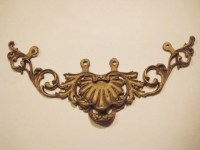 Antique Furniture Trim 1920s Cast Brass Shell and by