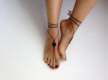 Woman Wearing Barefoot Sandals Pin