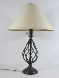 Vintage Wrought Iron Table Lamp / Shade Not Included but