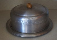 West Bend Aluminum Cake Plate Stand Holder With Dome Lid