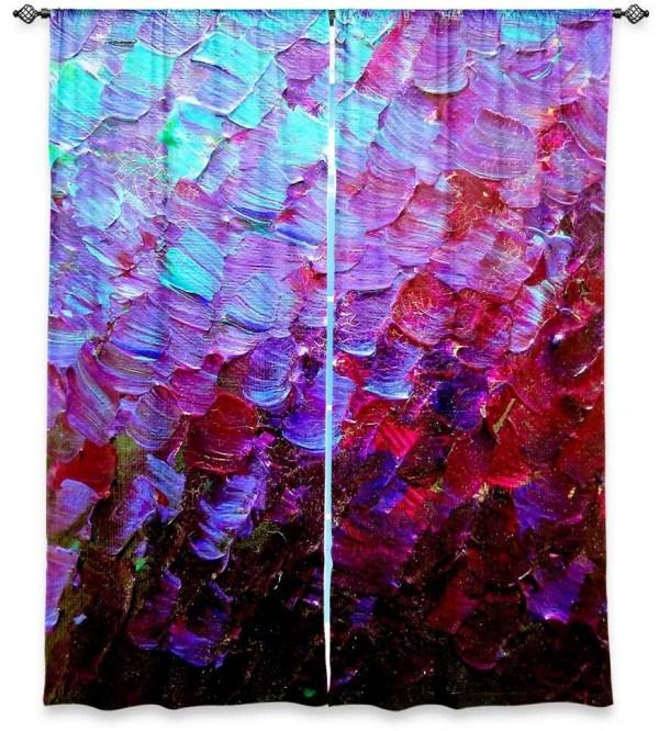 Mermaid Scales Fine Art Window Curtains Multiple