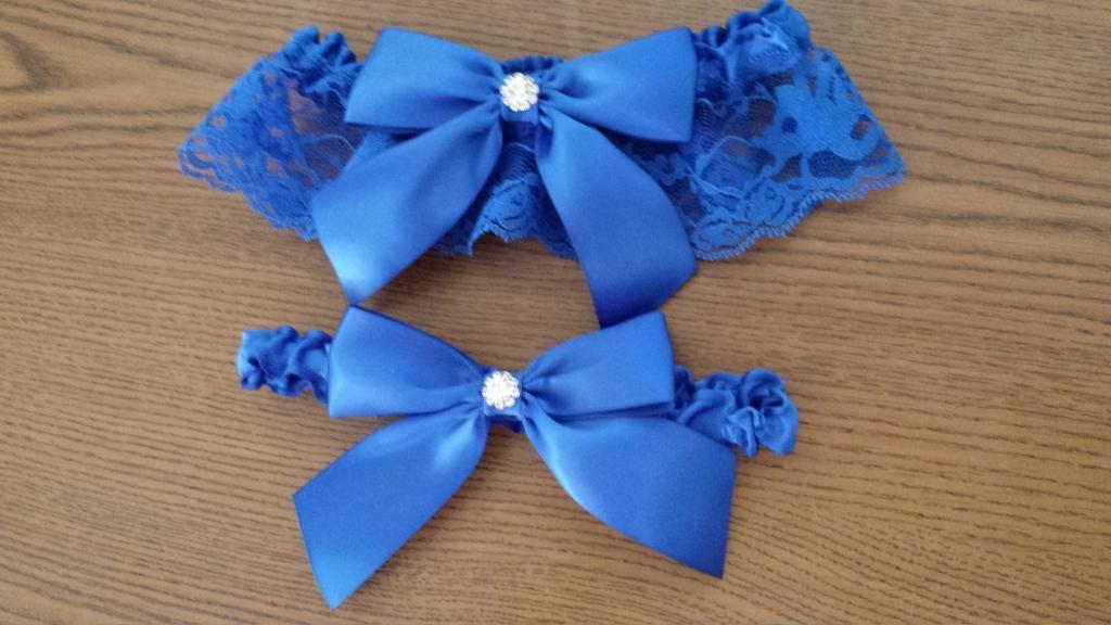 Royal Blue Wedding Garter Bridal Garter And Toss Garter