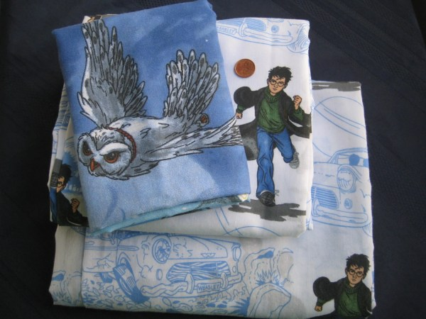 Harry Potter Twin Size Flat Fitted Sheets Pillowcase 3 Piece