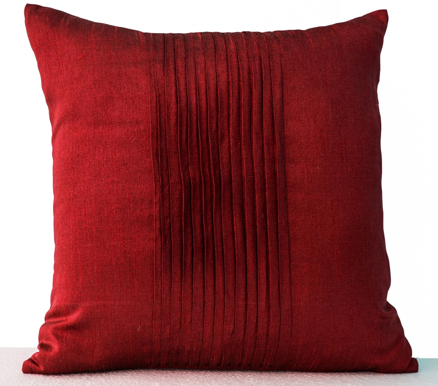 red accent pillows for sofa space throw in art silk attractive cushion rippled