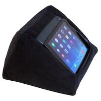 iPad Cushion Pillow Stand Holder. iCushion Velvet Black
