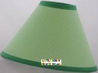 Gingham Green White Checks Fabric Lamp Shade 10 Sizes to