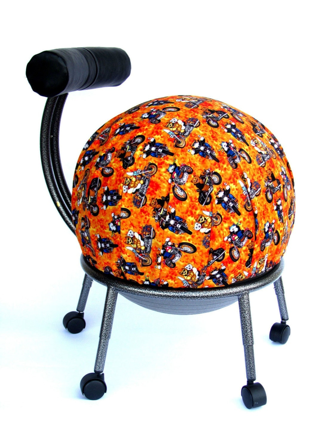 fitball balance ball chair sand chairs target exercise cover fits isokinetics by