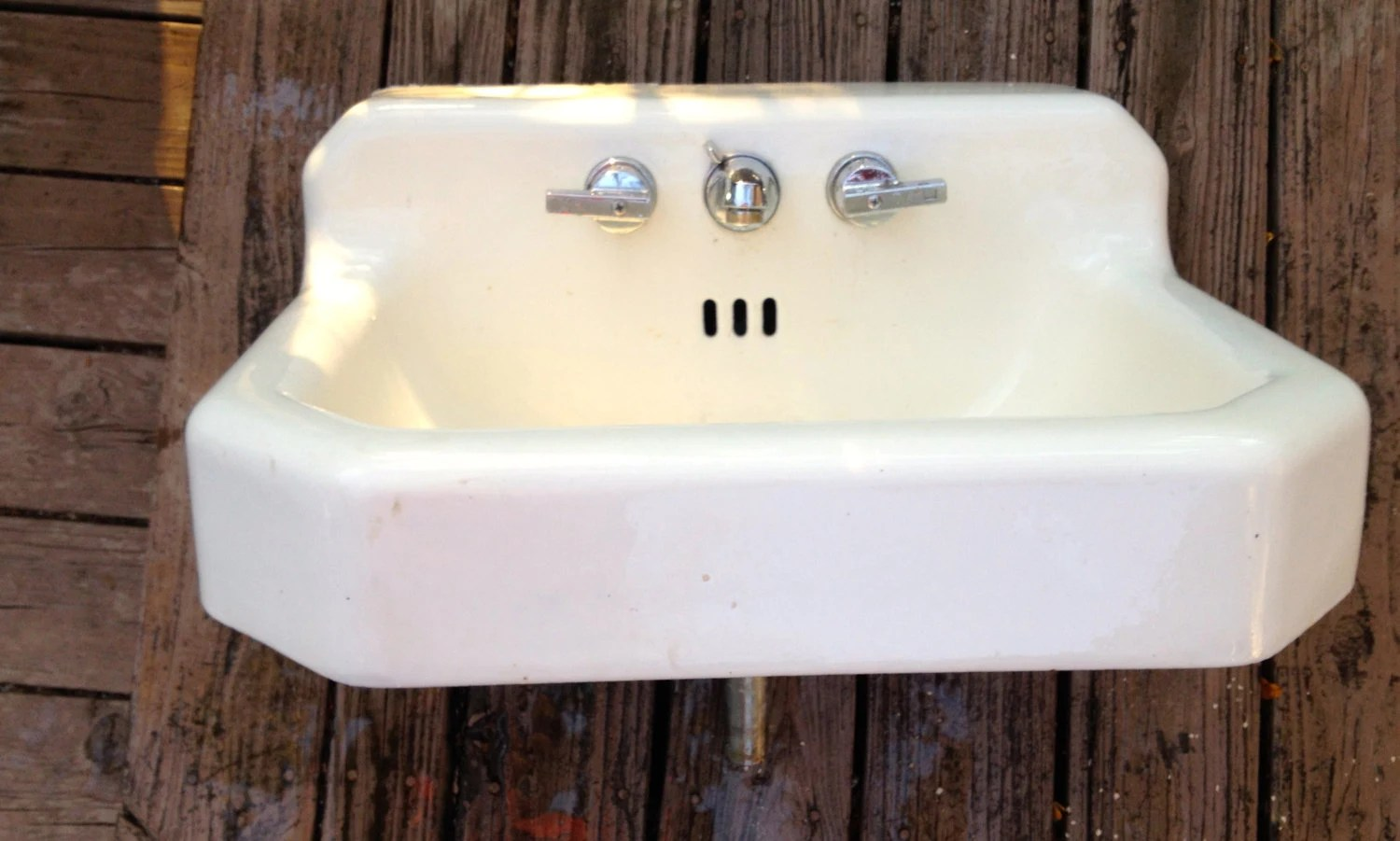 Cast Iron Bathroom Sink Mid Century American Standard Cast Iron Sink With Original