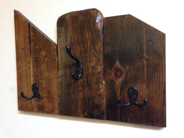 Rustic Wood Wall Mounted Coat Racks