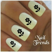 Sunflower Nail Decal 20 Vinyl Adhesive Decals Nail by ...