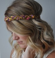 braided boho headband sparkly hippie