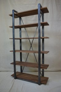 Industrial Rustic Shelving walnut and metal by ...