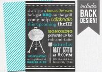 bbq baby shower invitation chalkboard baby by PixelMeetsPaper