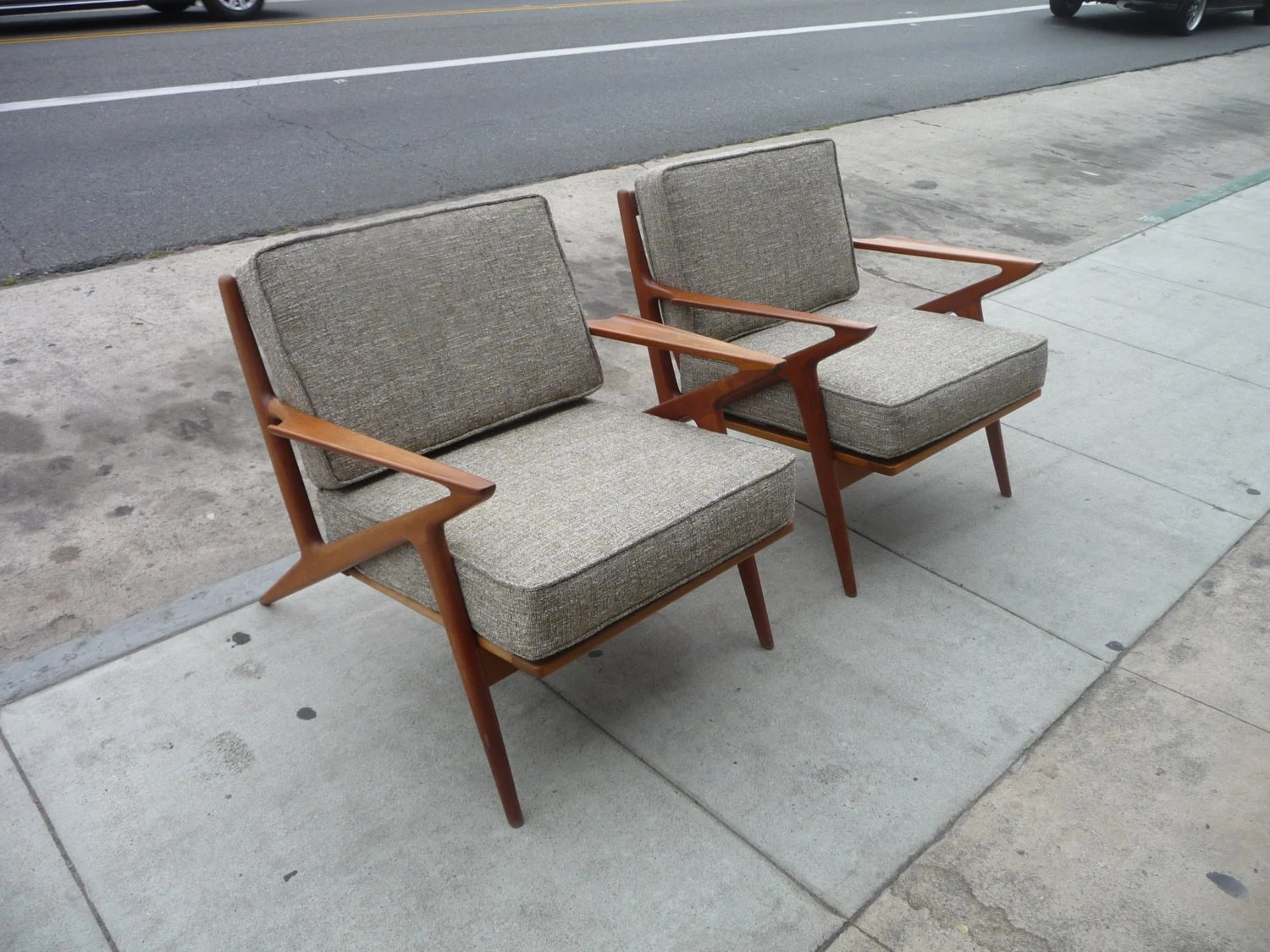 Mid Century Danish Chair Pair Of Selig Z Chairs Mid Century Modern Danish Chairs Danish