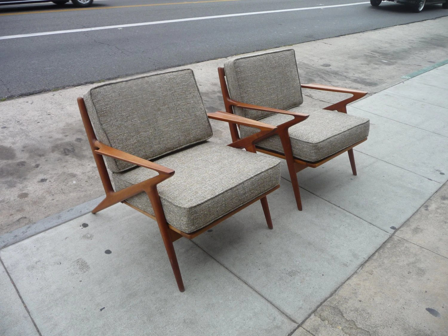 z chair mid century suvs with second row captains chairs pair of selig modern danish