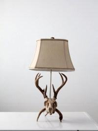 vintage deer skull lamp antler table lamp