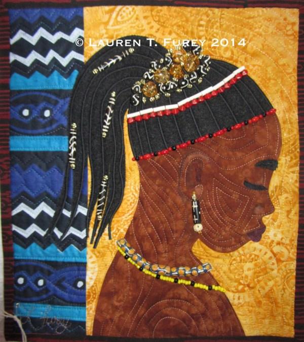 Mali Art Quilt Folk African Folktales Wallhanging
