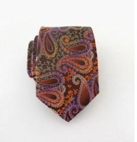 Mens Ties Necktie Brown and Orange Paisley Mens Tie
